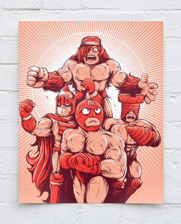 Blood Sweat & Killer Abs – Screen Print