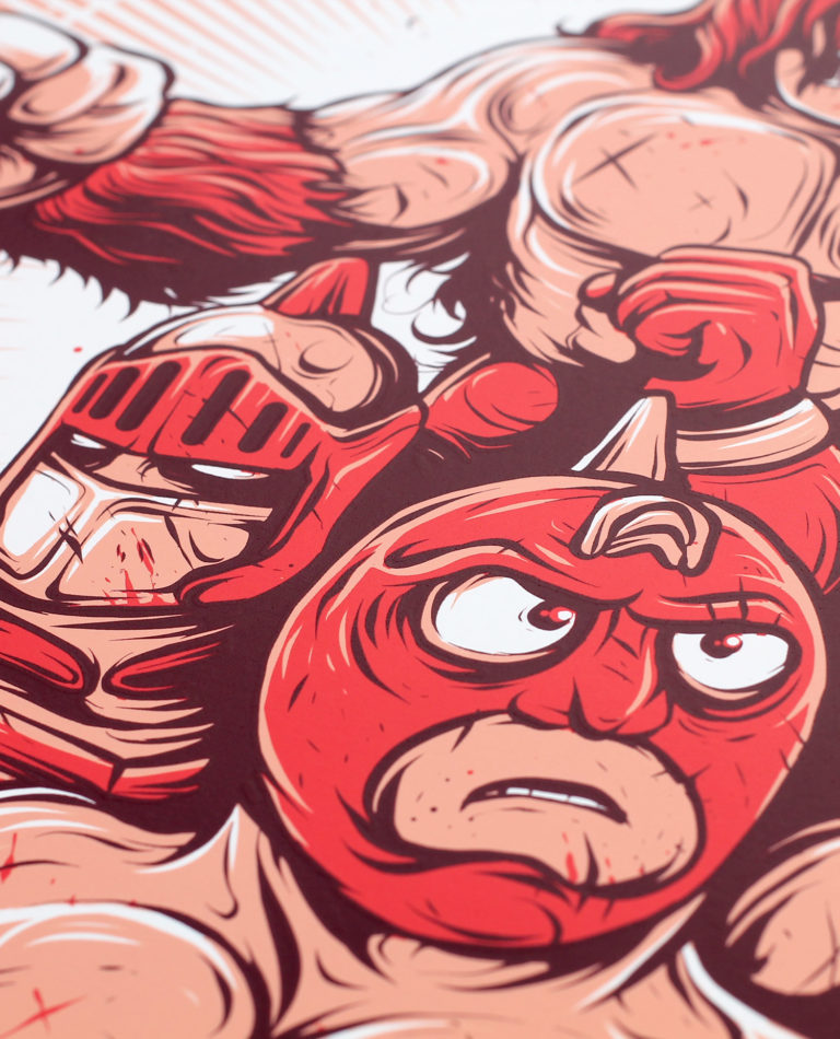 Blood Sweat & Killer Abs – Screen Print – Detail 02