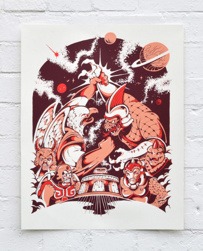 Clash At The Colosseum – Screen Print