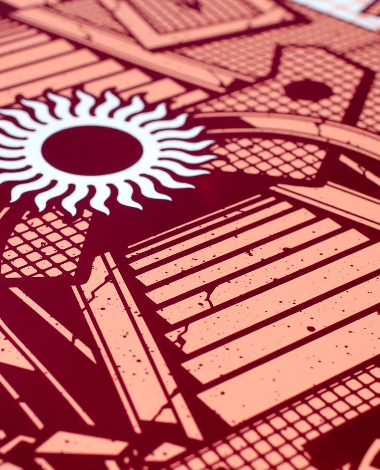 Sunshrine – Screen Print – Detail 02
